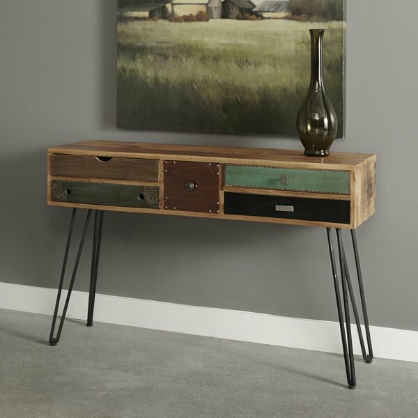 Monico 5 Drawer Console Table by World Menagerie