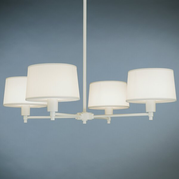 Real Simple 4-Light Shaded Chandelier by Robert Abbey