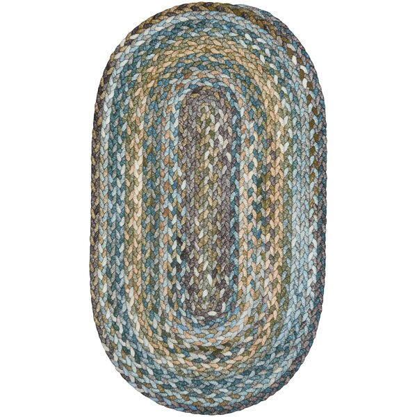 Ryland Braided Green/Blue Area Rug by August Grove