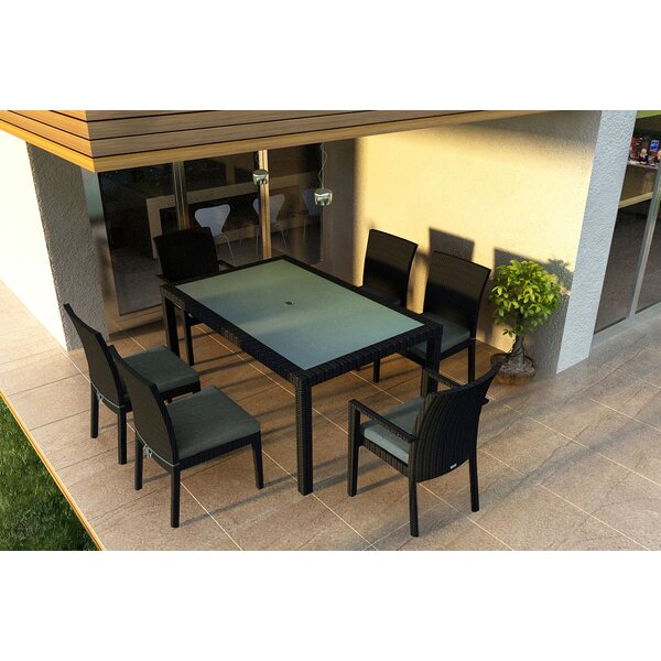 Azariah 7 Piece Sunbrella Dining Set with Cushions by Orren Ellis