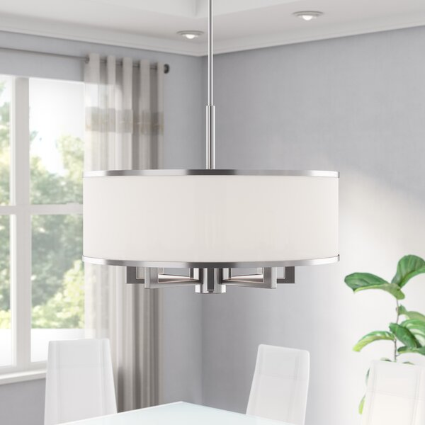 Breithaup 7-Light Statement Drum Chandelier by Latitude Run Latitude Run