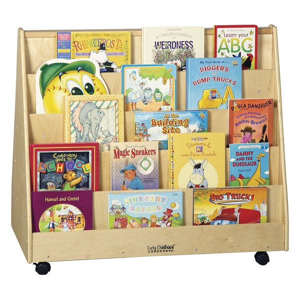 Double Sided 10 Compartment Book Display with Wheels by ECR4kids