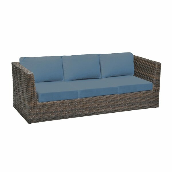Cribbs Patio Sofa with Sunbrella Cushions by Highland Dunes