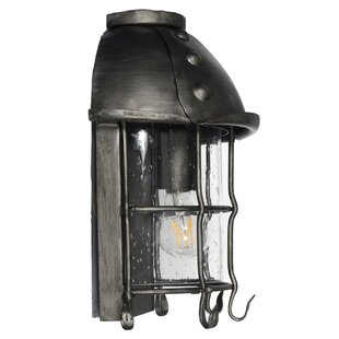 Sanders 1-Light Iron Outdoor Wall Lantern By August Grove Outdoor Lighting