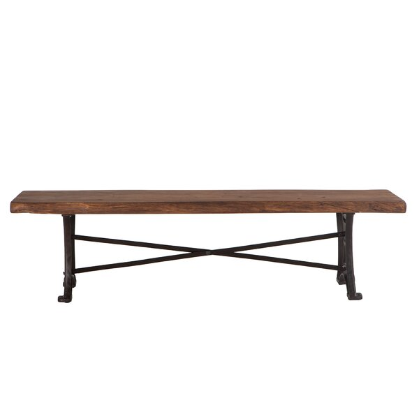 Cipriano Wood Bench by Gracie Oaks