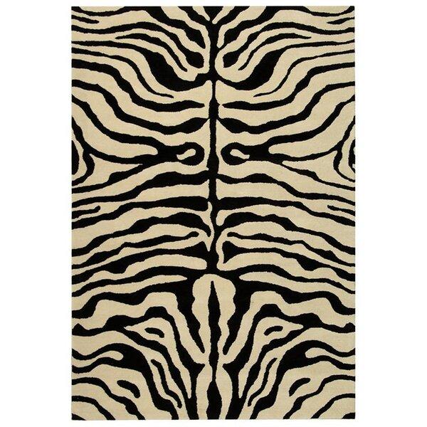 Dorthy Black/Ivory Area Rug by Bloomsbury Market
