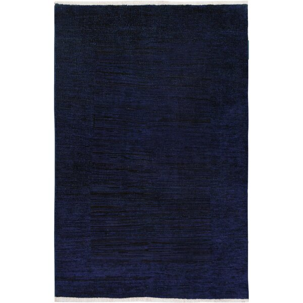 One-of-a-Kind Aberdeen Hand-Knotted Wool Blue/Purple Area Rug by Isabelline