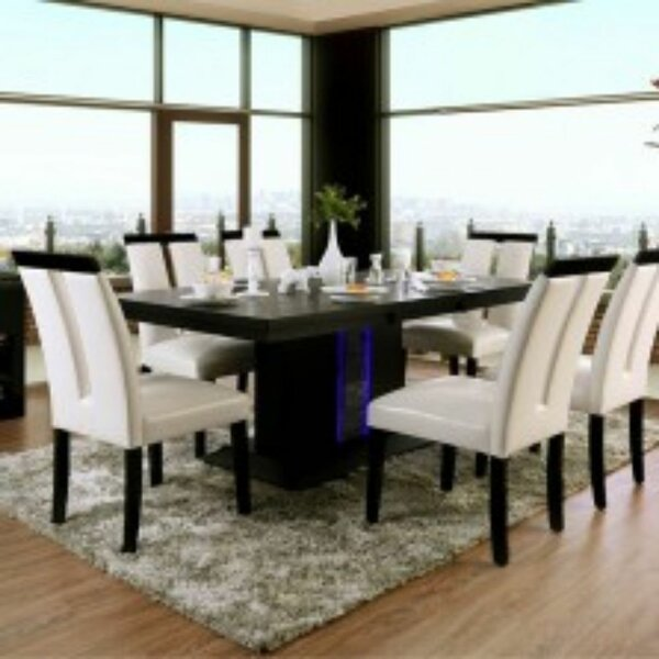 Mapleton 7 Piece Solid Wood Dining Set by Orren Ellis