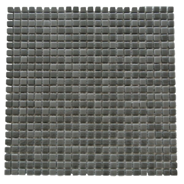 Full Body 0.5 x 0.5 Glass Mosaic Tile in Dark Gray by Abolos