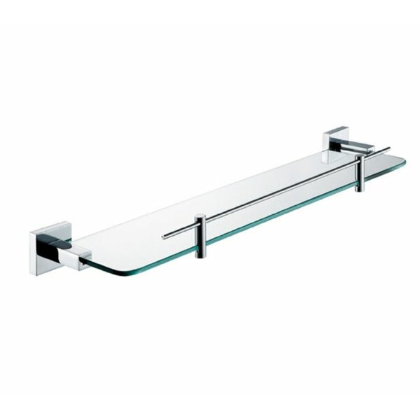 Hindes Glass Wall Shelf by Orren Ellis