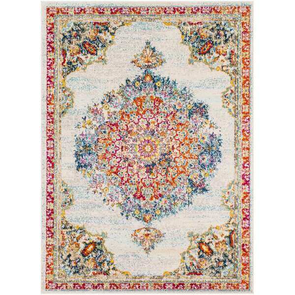 Berry Gray/Red Area Rug by Bungalow Rose
