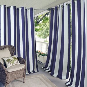 Humboldt Striped Grommet Single Curtain Panel