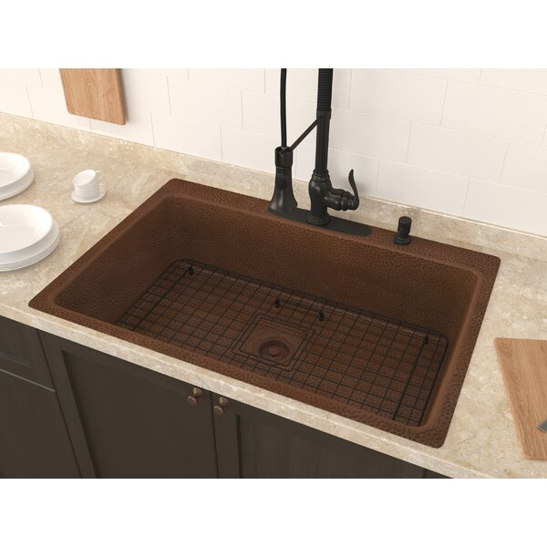 Cliff 34 x 22 Undermount Kitchen Sink with Basket Strainer and Basin Grid by ANZZI