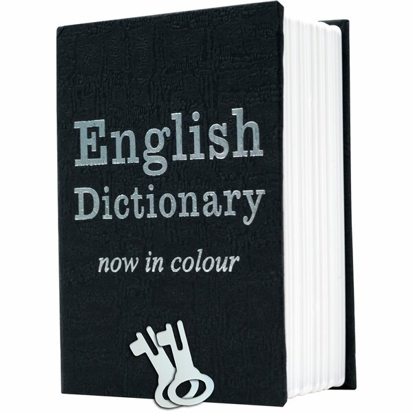 Mini Dictionary Diversion Book Safe with Key Lock by Trademark Home Collection