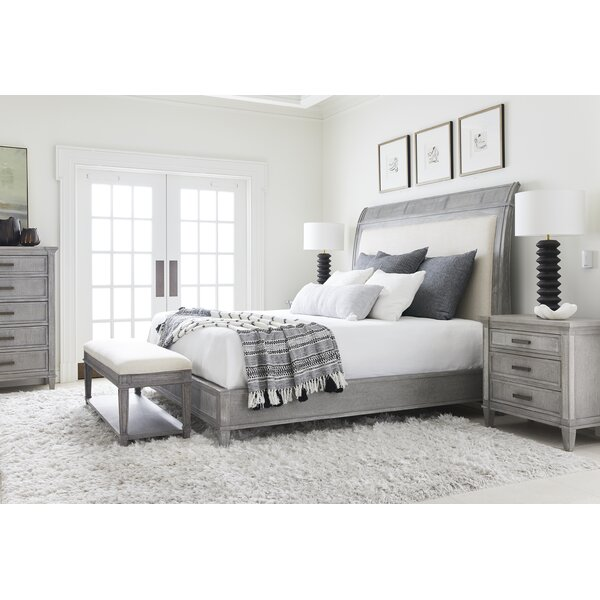 Willow Upholstered Sleigh Bed by Stanley Furniture