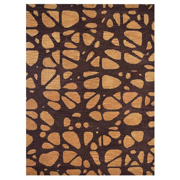 Johnathon Contemporary Hand-Tufted Wool Brown/Beige Area Rug by Latitude Run
