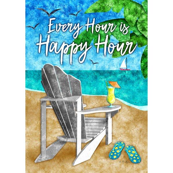 Happy Hour Beach Garden flag by Toland Home Garden
