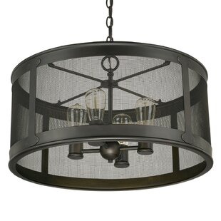 Affordable Price Calvin 4-Light Old Bronze Outdoor Pendant By Gracie Oaks