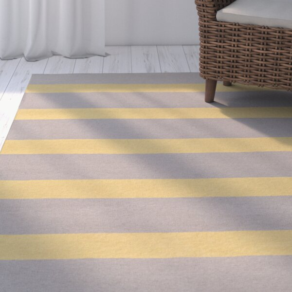 Peugeot Gold/Light Gray Indoor/Outdoor Area Rug by Beachcrest Home