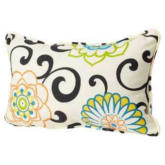 Pillow Perfect Outdoor Spring Bling Rectangular Throw Pillow Set of 2 560540 Multicolored