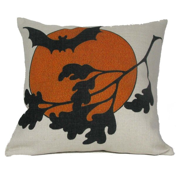 Halloween Bat Throw Pillow by Golden Hill Studio
