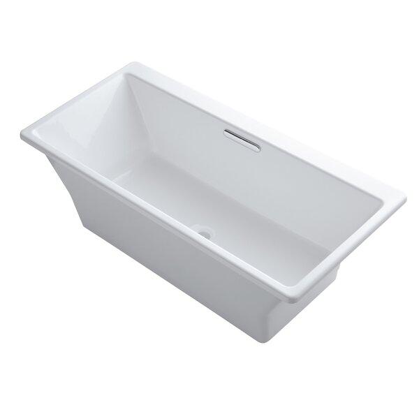 Rêve Freestanding Bath with Brilliant Blanc Base without Jet Trim by Kohler