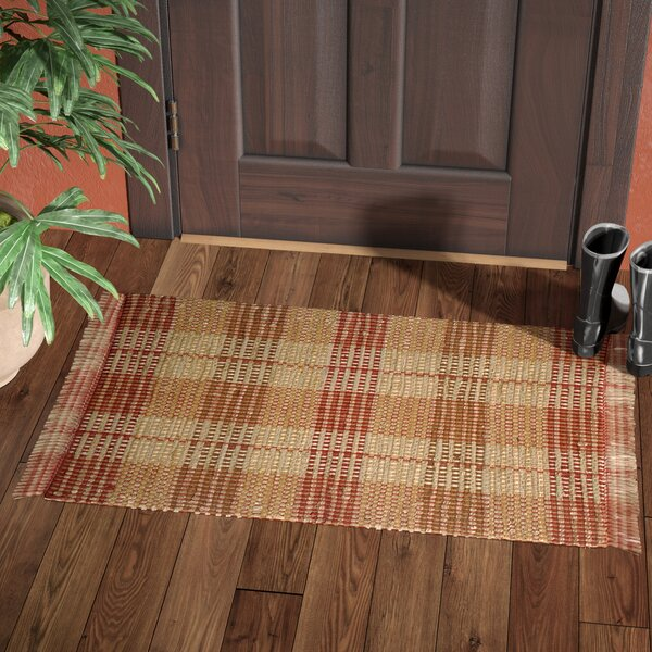 Levine Handmade Brick Area Rug by Loon Peak