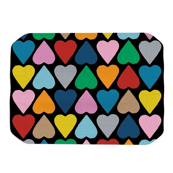 Project M Up and Down Hearts Placemat by East Urban Home