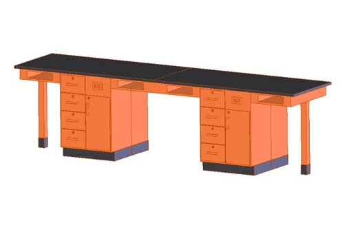 Four Station Service Center Workstation by Diversified Woodcrafts