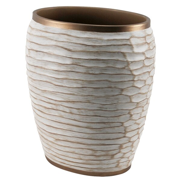 Chiseled Waste Basket by MCS Industries