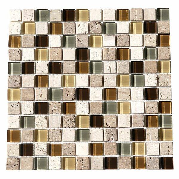 Paragon 12 x 12 Glass Mosaic Tile in Fawn by Kellani