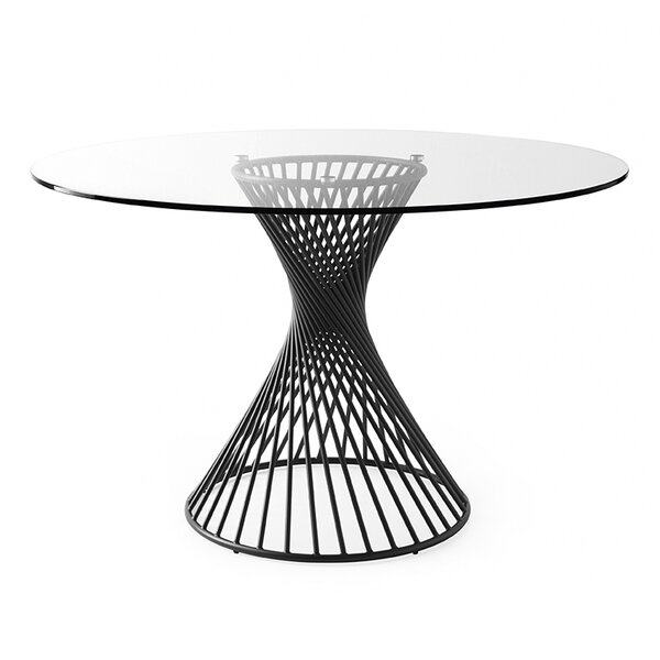 Vortex - Table - Matt Black Metal Base by Calligaris