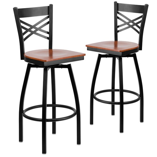 Chafin 30 Swivel Bar Stool (Set of 2) by Winston Porter