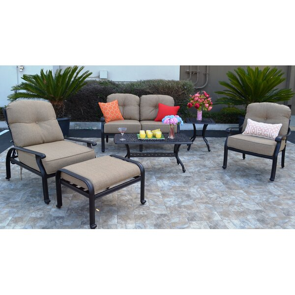 Kristy 6 Piece Sunbrella Sofa Seating Group with Cushions by Darby Home Co