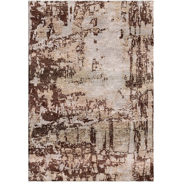 Ashford Handloom Brown/Sand Area Rug by Ivy Bronx