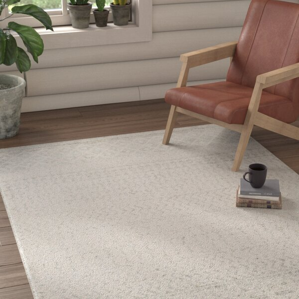 Kreutzer Distressed Beige/Light Gray Area Rug by Union Rustic