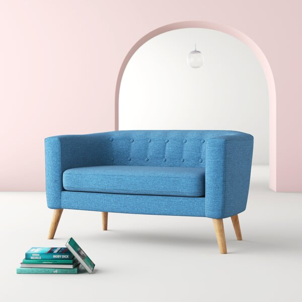 Authentic Chesterfield Loveseat by Hashtag Home