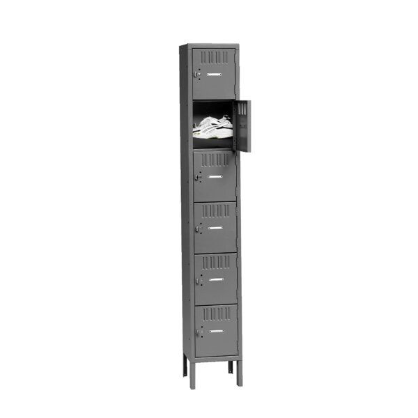 6 Tier 1 Wide Employee Locker by Tennsco Corp.