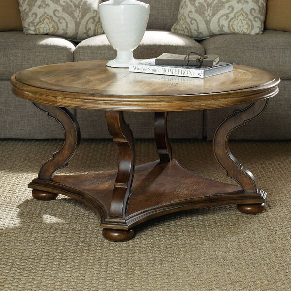 Archivist Round Coffee Table with Magazine Rack by Hooker Furniture Hooker Furniture