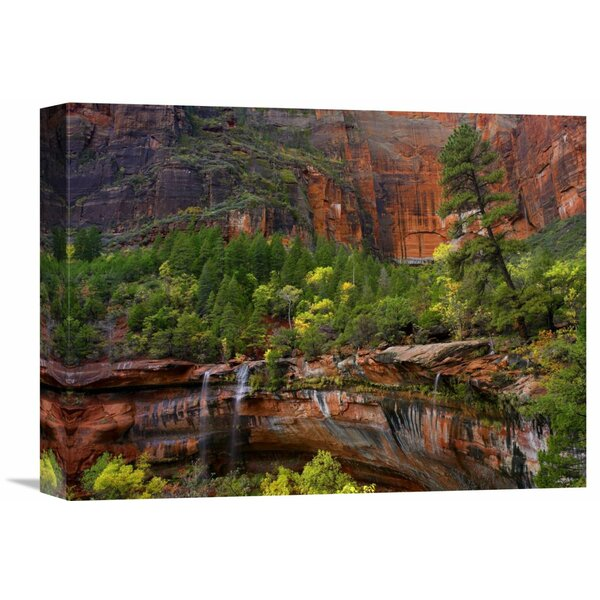 Nature Photographs Waterfalls at Emerald Pools,Zion National Park, Utah by Tim Fitzharris Photographic Print on Wrapped Canvas by Global Gallery