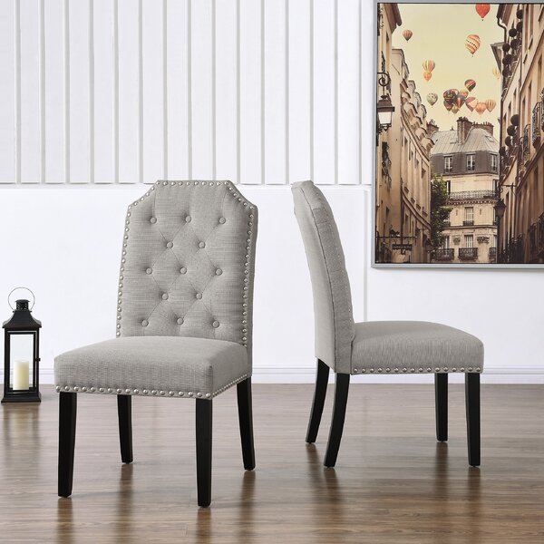 Pilou Tufted Upholstered Parsons Chair (Set Of 2) By Canora Grey