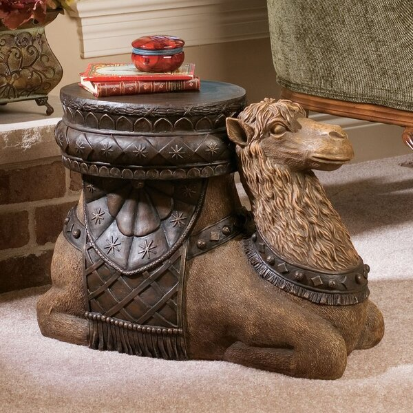 Review The Kasbah Camel Sculptural End Table