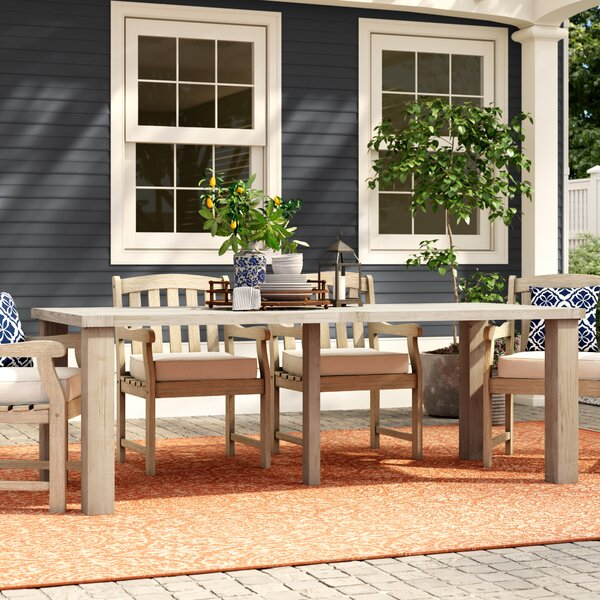 Oak Crest Solid Wood Dining Table by Canora Grey