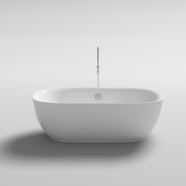 Lamone 66 x 31.25 Freestanding Soaking Bathtub by Kokss