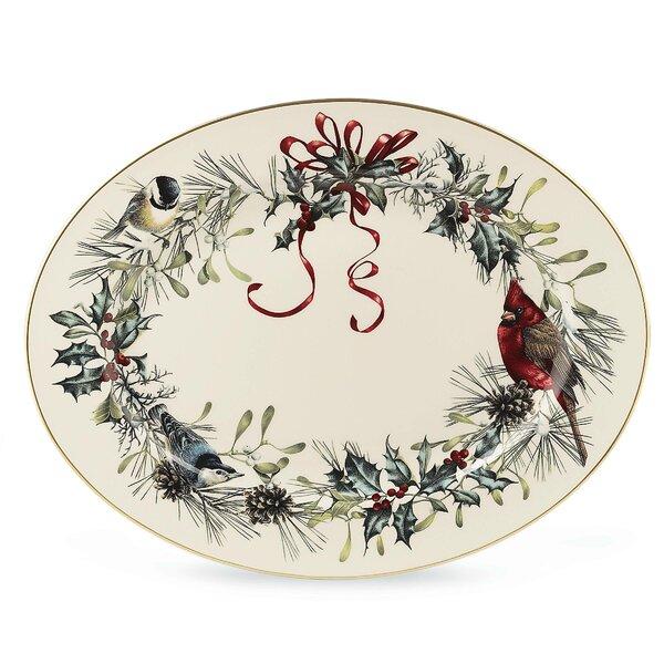 Winter Greetings Oval Platter by Lenox