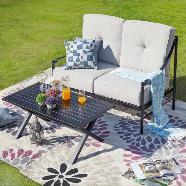 Pegues 2 Piece Sofa Seating Group with Cushions by Alcott Hill