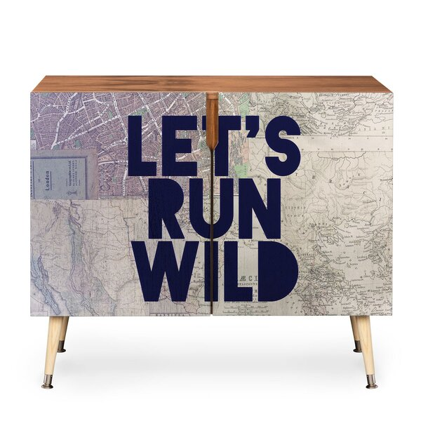 Lets Run Wild X Maps 2 Door Accent Cabinet by East Urban Home
