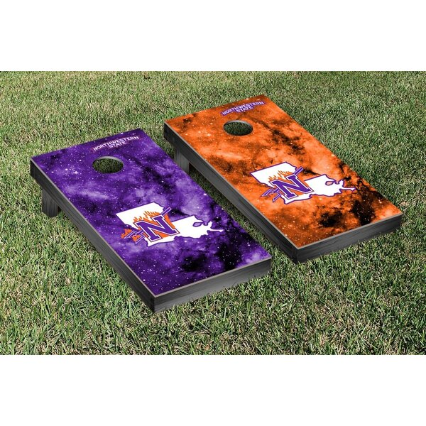 NCAA Galaxy Design Cornhole Game Set by Victory Tailgate