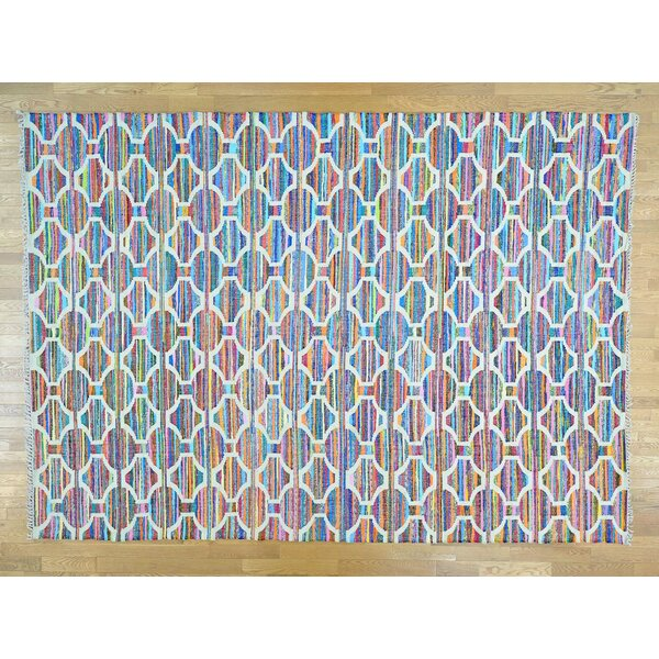 One-of-a-Kind Boylon Geometric Design Handmade Kilim Wool Area Rug by Isabelline