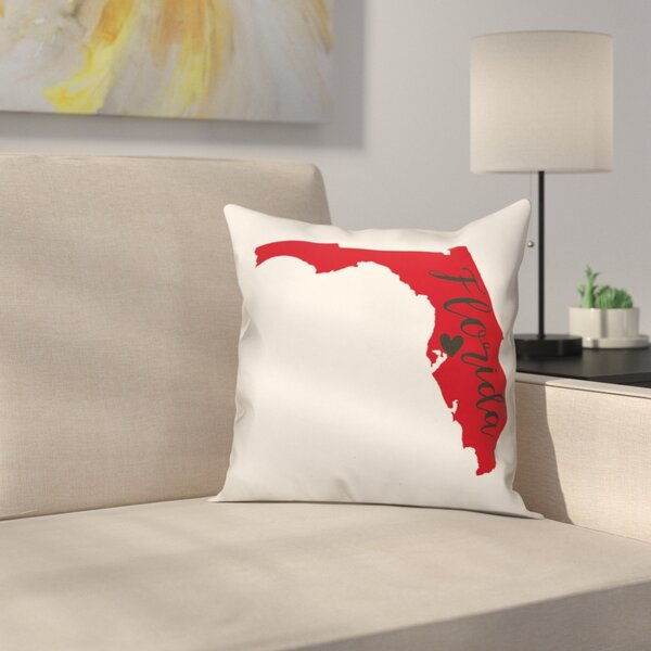 Florida Pride Square Throw Pillow by East Urban Home